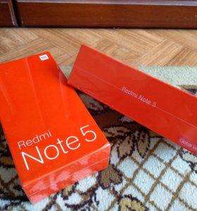 Xiaomi Redmi Note 5 4/64. Чёрный. Запечатанный.