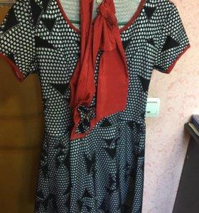 Платье, жилетка телпая