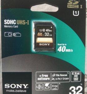 Карта памяти Sony SDHC 32Gb