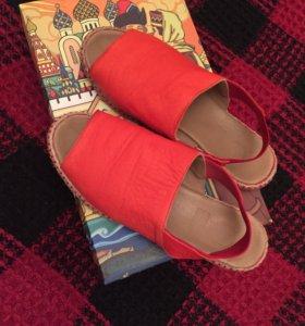 Обувь летняя слипоны, кожа