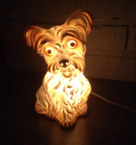 Светильник/ночник СССР,собака