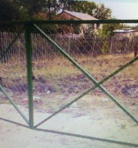 Ворота садовые распашные.
