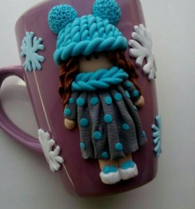 Кружки и ложки с декором
