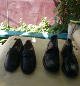 туфли и ботинки б/у кожаные итальянские