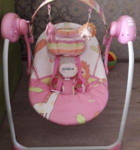 Шезлонг Bebyton Merry Pink