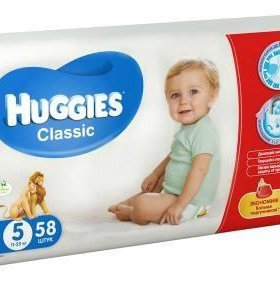 Huggues classic 5 (11-25 кг) 38 штук в упаковке