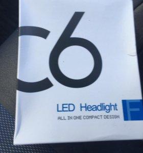 Лед лампы на ближний свет h7 Новые 2шт