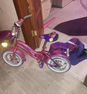 Велосипед  детский для девочки Ранетки