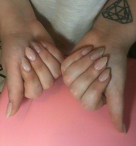 Наращивание ногтей,гель лак,педикюр.