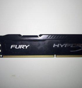 DDR3 4GB HyperX FURY Black Оперативная Память RAM