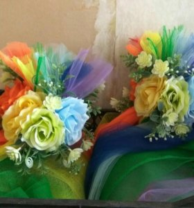 Свадебное украшение на капот