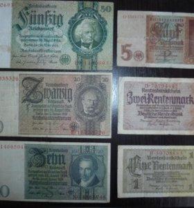 Банкноты (купюры) Германии 1929-1942гг.