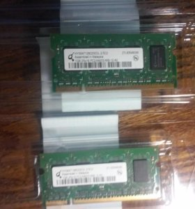 Оперативка 2 X 1 Гб DDR2 для ноутбука SO-dimm