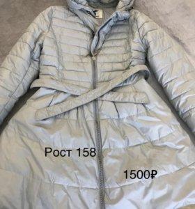 Пальто тёплое на осень 152-158