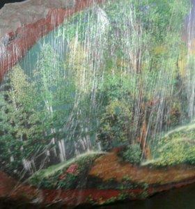 Лесной пейзаж на дереве