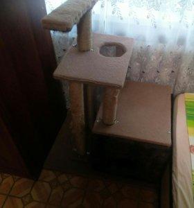 Кошачий игровой дом + когтечесалка