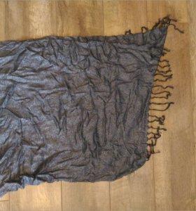 Черно-серебристый платок