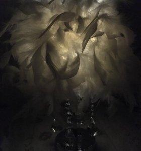 Ночник с перьями
