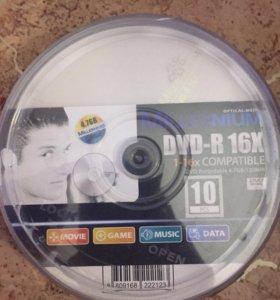 Комплект болванок 10 шт dvd-r