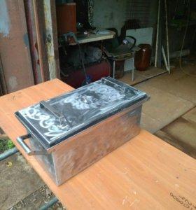 Коптильня с гидрозатвором 500/250/250 металл 2мм.