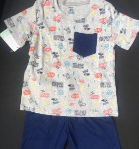 Комплект новый: Футболка и шорты, для сада