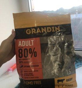 Корм Grandin для котов/кошек.80% мяс.ингредиентов