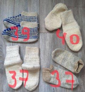 Носки из натуральной овечьей шерсти (ручная вязка)