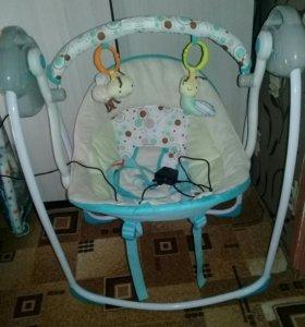 Качели напольные Baby Care «Riva» с адаптером