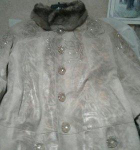 Новые вещи кож куртка Турция шуба  мутон Германия