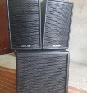 Активный комплект акустики 2+1 1000wat