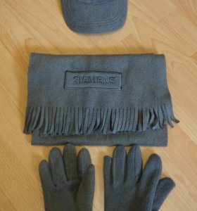 Бейсболка, перчатки, шарф-комплект