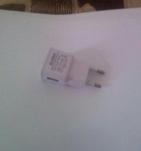 Зарядник для телефона, USB, 5 вольт 1 А