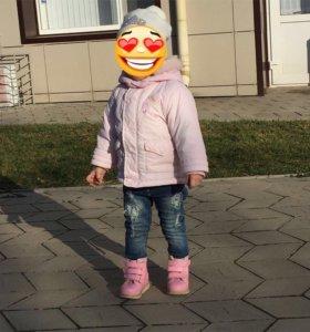 Куртка для девочки+ботинки