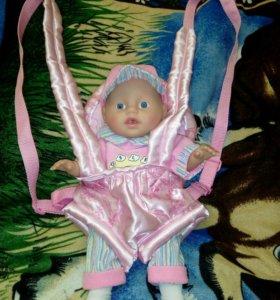 "Переноска ""Кенгуру"" для куклы baby born"
