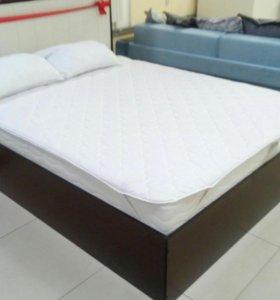 Кровать с матрасом(+наматрасник)