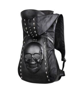"""Рюкзак с капюшоном """"Череп"""". Новый"""