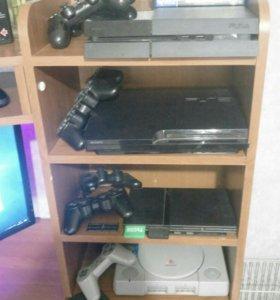 Коллекция консолей Sony PlayStation