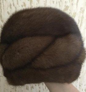 Женская норковая шапка, размер 58