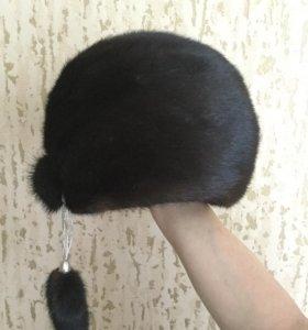 Женская норковая шапка, р. 56