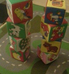 Кубики мякиши.