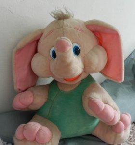 Слоник розовый большой
