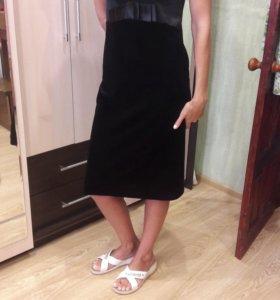 Платье бархатное 46-48