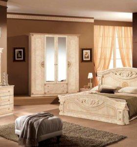 Спальня Рома комплект с 4-дверным шкафом