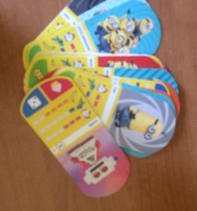 Карточки гадкий я 47 штук ,3 редких