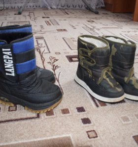 Сапоги демисезонные и зимние на мальчика 28 размер
