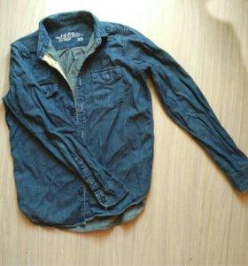 Мужская джинсовая рубашка