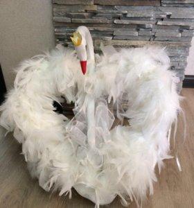 Свадебные лебеди новые из натурального лебедя