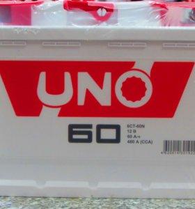 Аккумулятор UNO 60Ач новый