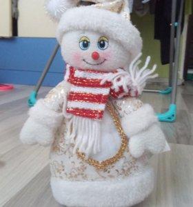 Игрушка(мягкая) снеговик