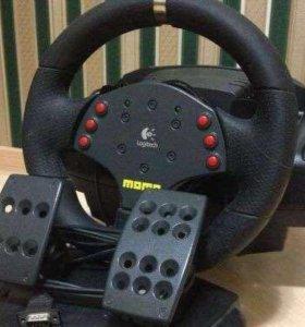 Компьютерный руль с педалями